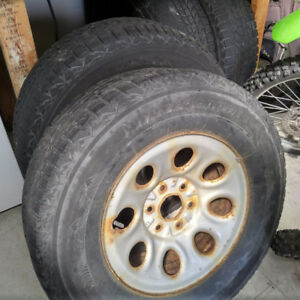 4 winterforce winter tires on rims