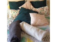 Pillows, cushions and covers