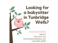 Friendly & responsible babysitter/tutor in Tunbridge Wells