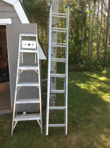 10' Ladder and 6' step ladder