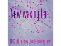 New waxing bar opening soon
