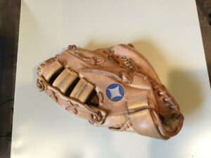 Leather ball glove
