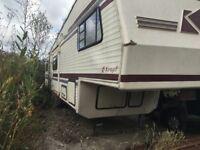 RV, mobile home, camper van, in need of TLC