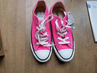 Converse size 4 pink trainers