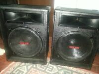 15inch custom sound speakers full range 300 watts each.