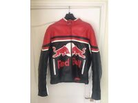 Red Bull Motorcycle Leather Jacket (medium)