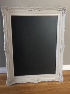 Vintage frame chalkboard wedding event grey