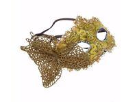 Lace Carnival Mask Masquerade Luxury Mask Gold Venetian Mask Notting Hill Ball Fancy Dress