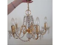 Lead crystal 5 arm chandelier £105