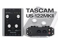 Tascam US122 mk2 USB Audio/Midi Interface MKII