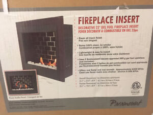 "Paramount Highland 23"" Gel Fuel Fireplace Insert"