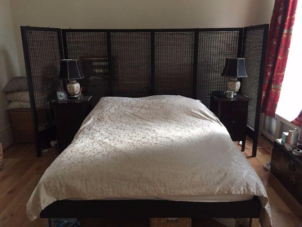 King Size wooden bed frame for sale - Islington