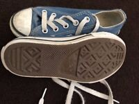 Blue Converse All Star (Size 10.5)