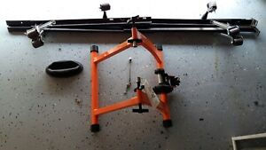 Magnetic bicycle Trainer and queen bed frame