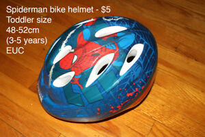Spiderman Bike Helment - Toddler size 3-5 years