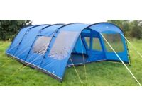 Hi gear Oasis 6 berth Tent with front awning and carpet; excellent condition