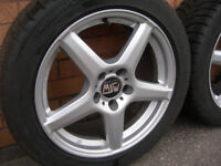"""Set of 4 17"""" MSW Alloy Wheels & Tyres by OZ KBA 46931 Excellent Cond (WH_0620)"""
