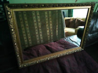 Large Ornate Vintage Style Gold colour mirror