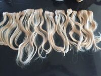 100% natural blonde wavy clip in hair extensions