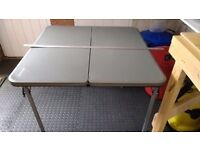 Vango Woodland Table and Chair Set - Grey, folding table and 4 chairs for camping or caravanning