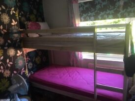 Cream washed wooden bunk beds