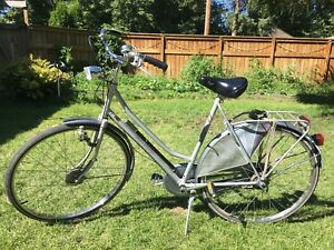 Vintage Grey Raleigh Roadster Bike