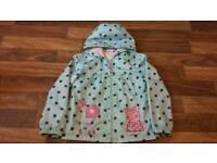 Girls Peppa Pig jacket 5-6 years