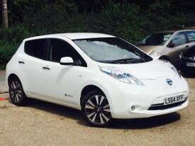2014 Nissan Leaf E ( 80kw ) ( 24kWh ) Auto Tekna Flex Electric White 8,029 Miles