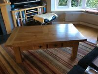 Stunning, large French oak coffee table