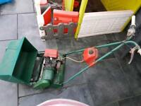 vintage petrol lawnmower Suffolk punch
