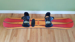'K2' snowboard (144 cm) with 'Slim' bindings and boots