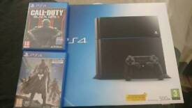 PS4 500gb, 2 games, great condition