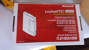 Honeywell Line Volt Pro 8000 TL800a1008 Floor Heating Thermostat