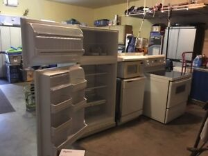 Stove,fridge,dishwasher,range hood and microwave