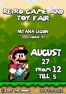 Retro Game and Toy Fair AUG 27th!!