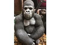 Stone garden gorilla 15 inches tall