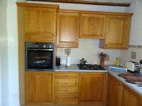 Kitchen Cabinets with Oak Panel Doors