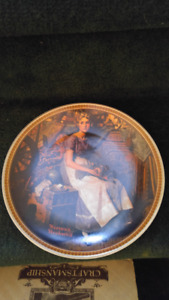 Norman Rockwell Sitting in Attic Plate $10.00