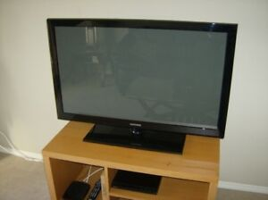Samsung 42 inch Plasma TV with base cabinet