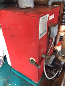 pool heater , areo heater, oil tank and  chimane and all plumpin