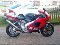 Aprilia rsv mille 1000cc v twin italian super bike( just 6.5k from new.)