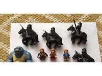 Extremely rare Lego lord of the rings and hobbit figures inc blue coat bilbo
