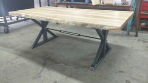 Live Edge Maple Dining Room Table - Organic Interiors