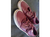 Vans Leather Burgundy Men's Shoe's UK Size 11