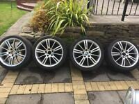 BMW 18 inch Alloy wheels with tyres