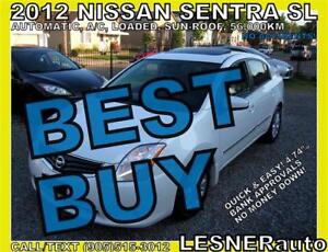 2012 NISSAN SENTRA SL -SUN-ROOF BLUE-TOOTH -56,KM-NO ACCIDENTS!