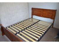 King size hardwood (mahogany style) sleigh bed