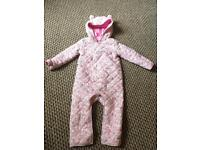 F&F baby quilted all in one 12-18 months