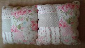 TWO LOVELY BHS CUSHIONS FOR THE BED ROOM OR LIVING ROOM LIKE NEW
