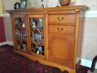 Stunning Classic Yew Sideboard and Display Unit